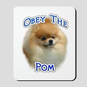 Pomeranian Obey Mousepad