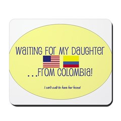 Waiting For My Daughter...Fro Mousepad