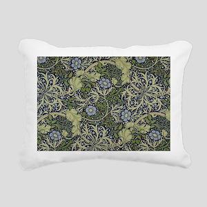 William Morris Seaweed Rectangular Canvas Pillow