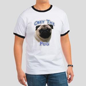 Pug Obey Ringer T