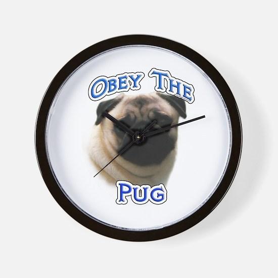 Pug Obey Wall Clock
