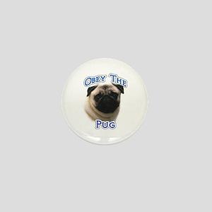 Pug Obey Mini Button