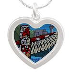Vancouver Canada Souvenir Silver Heart Necklace