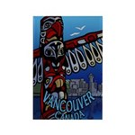 Vancouver Canada Souven Rectangle Magnet (10 pack)