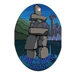 Vancouver Canada Souvenir Oval Ornament