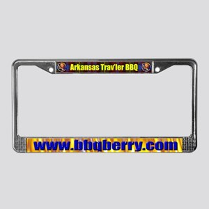 Arkansas Trav'ler BBQ License Plate Frame