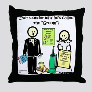 The Groom Throw Pillow