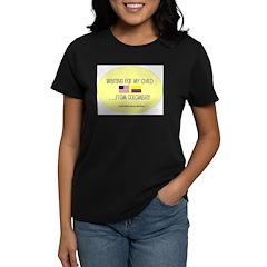 Waiting For My Child...From C Women's Dark T-Shirt
