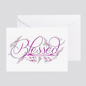 Blessed fuchsia flourish Greeting Cards