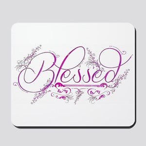 Blessed fuchsia flourish Mousepad