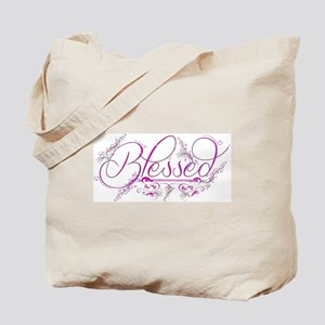 Blessed fuchsia flourish Tote Bag