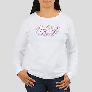 Blessed fuchsia flourish Long Sleeve T-Shirt
