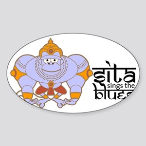 Hanuman_cloisonne2 Sticker (Oval)