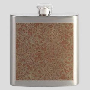 William Morris Poppy Design Flask