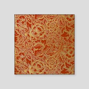 """William Morris Poppy Design Square Sticker 3"""" x 3"""""""