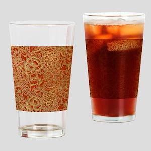 William Morris Poppy Design Drinking Glass