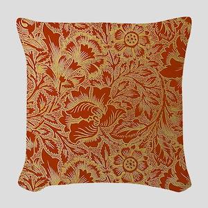 William Morris Poppy Design Woven Throw Pillow