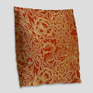 William Morris Poppy Design Burlap Throw Pillow