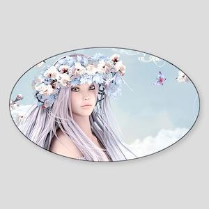 Fairytale Girl Sticker (Oval)