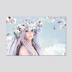 Fairytale Girl Mini Poster Print