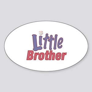 Little Brother (Baseball) Oval Sticker
