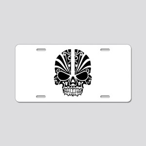 Skull Tattoo Tribal Aluminum License Plate