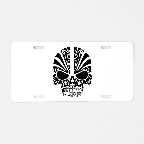 Skull Tattoo Tribal Aluminum License Plate