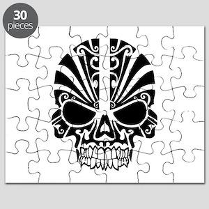 Skull Tattoo Tribal Puzzle
