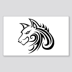 Wolf Tattoo Tribal Sticker