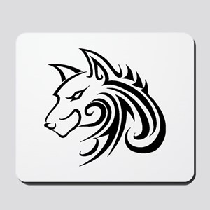 Wolf Tattoo Tribal Mousepad