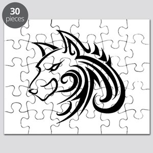 Wolf Tattoo Tribal Puzzle
