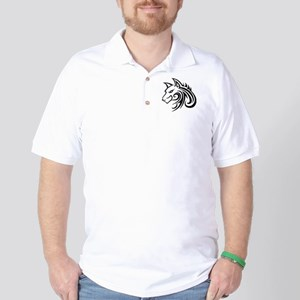 Wolf Tattoo Tribal Golf Shirt