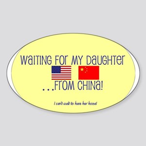 Waiting For My Daughter...Fro Oval Sticker