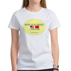 Waiting For My Daughter...Fro Women's T-Shirt