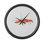 Pistol Snapping Shrimp Large Wall Clock