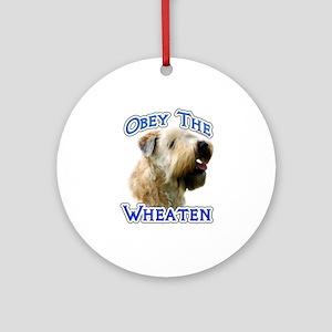 Wheaten Obey Ornament (Round)