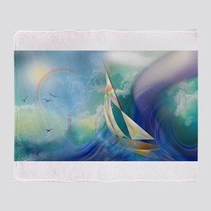 Sailboat Waterspout Throw Blanket