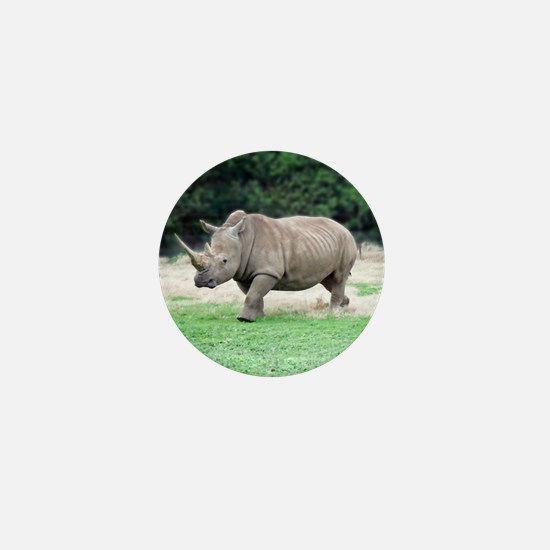 Rhinoceros with Huge Horn Mini Button