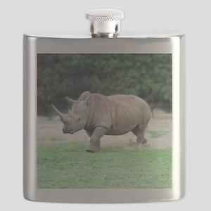 Rhinoceros with Huge Horn Flask