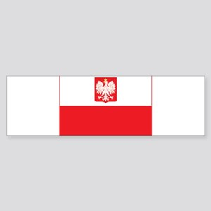 Polish Falcon Flag Bumper Sticker