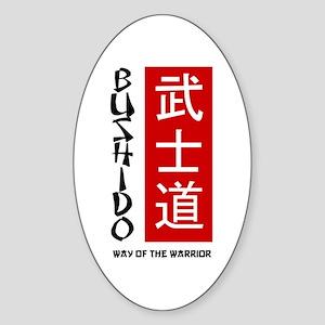 Bushido Oval Sticker