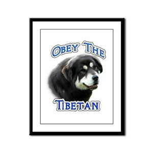 Tibetan Obey Framed Panel Print