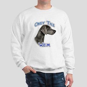 Weimaraner Obey Sweatshirt