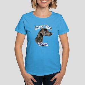 Weimaraner Obey Women's Dark T-Shirt