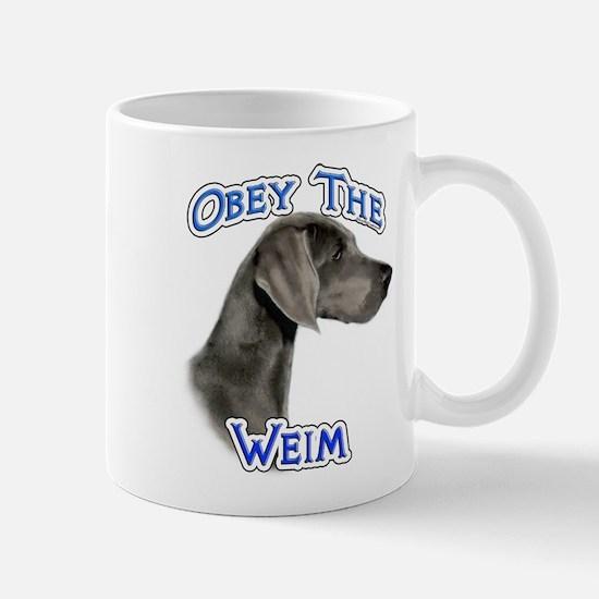 Weimaraner Obey Mug