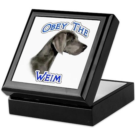 Weimaraner Obey Keepsake Box