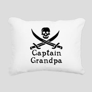 Captain Grandpa Rectangular Canvas Pillow