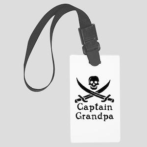 Captain Grandpa Large Luggage Tag