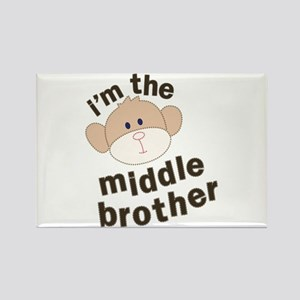 middle brother monkey Rectangle Magnet