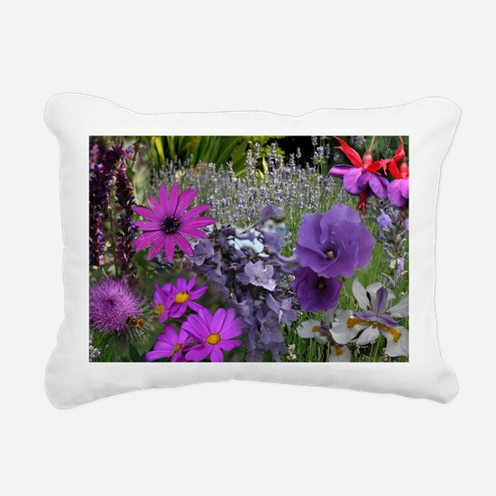 Pink and Purple Flower P Rectangular Canvas Pillow